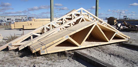 Tim br fab roof trusses for Pre engineered trusses