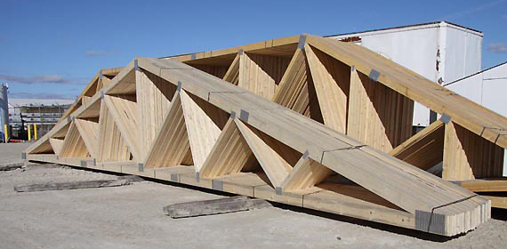 Tim br fab roof trusses for Pre made roof trusses