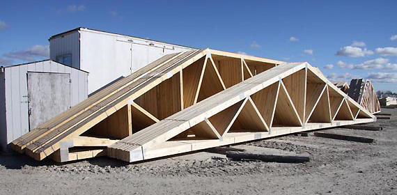 Tim br fab roof trusses for Pre engineered roof trusses